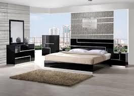 marvelous modern bedroom set in white or black leather luxury