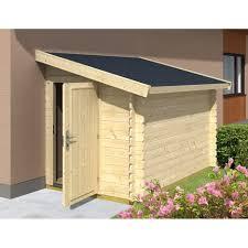 abris de jardin en solde abri jardin bois adossable bandya 3 67m 28mm pas cher à prix