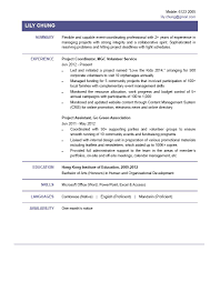 Coordinator Sample Resume Project Coordinator Sample Resume Free Resume Example And