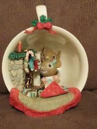 enesco ornament sew christmasy sewing machine mouse