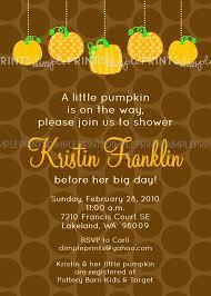 pumpkin baby shower printable invite dimple prints shop