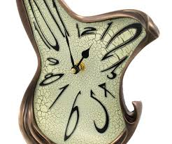 Ebay Cuckoo Clock Crazy Clocks Whimsical Melting Mantel Clock Bronze Finish Dali