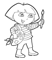 toddler coloring pages dora printable kids colouring for painting