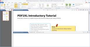 Converting Pdf To Excel Spreadsheet Pdf2xl Enterprise Download