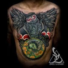 flying monkey chest cover up ben lucas eye of jade
