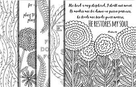 5 hand drawn bible verse coloring pages inspirational quotes