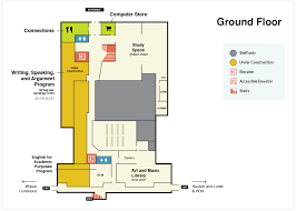 ground floor plan rhees library floor plans river cus libraries