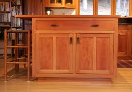 Classic Cherry Kitchen Cabinets Custom Cabinetry With Stained Glass Stauffer Woodworking