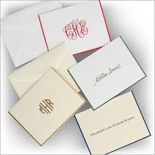 customized gift cards classic monogrammed personalized gift enclosure cards