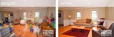 livingroom2 beforeliving room organization the organizing agency