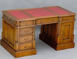 bureau style anglais bureau 140cm style anglais en acajou meuble