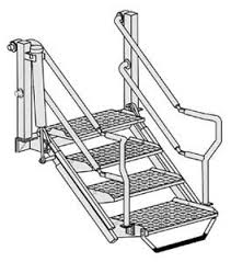 emco wheaton swivel joints safety folding stairs products