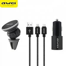 awei multi functional 3 in 1 complete travel kit with cable car