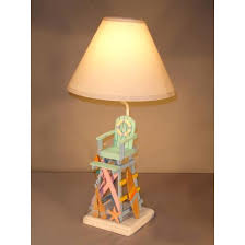 beach color lifeguard chair lamp