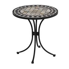 Tile Bistro Table Home Styles 28 In Black And Tile Top Patio Bistro Table