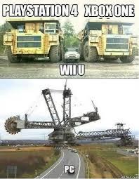 Playstation Meme - pc vs xbox one vs playstation 4 vs wii meme jokeitup com