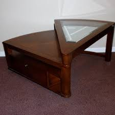 wedge shaped end table wedge shaped swivel coffee table ebth