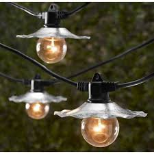 Edison Bulb String Lights Decoration Outdoor String Lights Galvanized Shades Bulbs Not