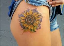 watercolor sunflower tattoo designs ideas and meaning tattoos