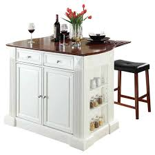 beachcrest home byron kitchen island with cherry top and saddle