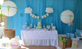 Baby Shower Decoration Ideas Boy U0027s Air Balloon Party Theme Spaceships And Laser Beams