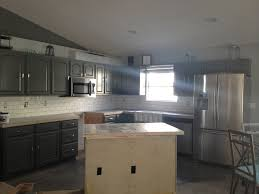 kitchen backsplash ideas with dark cabinets sloped ceiling