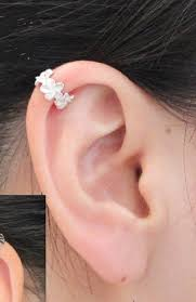 earring on ear 68 best ear cuff images on earrings ear cuff earrings