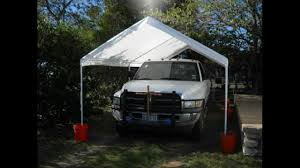 10x20 Garage Caravan Canopy 10 By 20 Domain Carport Youtube