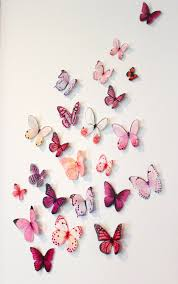 Organza Butterfly Wall Decoration 20 Wedding Butterfly