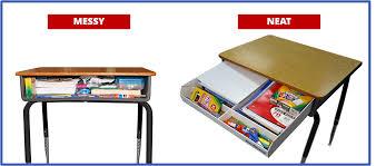 Teacher Desk Organization by 1435197602334 Png