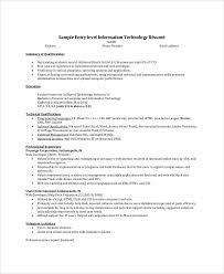 it help desk resume entry level exle summary for resume of entry level exles of resumes
