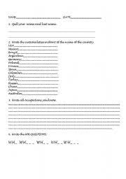 english teaching worksheets countries and nationalities