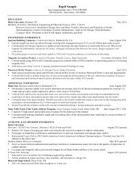 Best Resume For Mechanical Engineer by Marvellous Resume Of Mechanical Engineering Student 55 With
