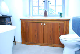 Teak Vanity Bathroom by Hand Crafted Teak Bathroom Storage Cabinet By Furniture By Design