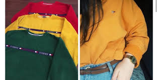 vintage hilfiger sweaters sweater yellow vintage hilfiger vintage hilfiger