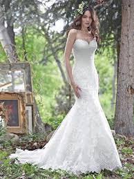 elegant and timeless this fit and flare wedding dress features