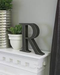 Home Decor Letters Of Alphabet Free Standing Distressed Wooden Letters Alphabet Decor Letter R