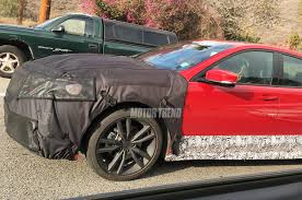 Acura Tl Redesign Spied 2018 Acura Tlx Prototype Shows Off New Grille Motor Trend