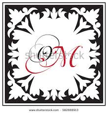 monogram ornamental style framework composition stock