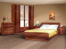 Small Bedroom With King Size Bed In Vogue Arc Wooden Headboard King Size Bed And Double Mirror Door