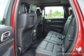jeep grand cherokee interior seating jeep grand cherokee rear seats launched in india indian autos blog