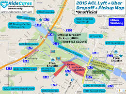 Traffic Map Austin by A Ridecares Perspective Austin City Limits 2015