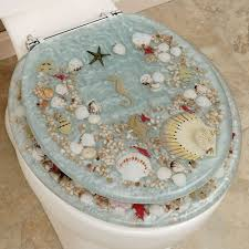 Pretty Decorative Toilet Seats Delightful Jewel Shell Toilet Seat