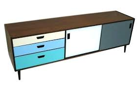 mid century console cabinet custom colors mid century modern credenza media console or storage