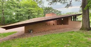 frank lloyd wright inspired home with lush landscaping photos of 1 3 million home designed by frank lloyd wright