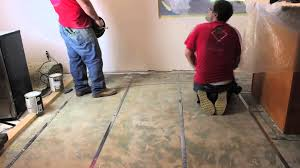 how to install wire floor heat on concrete with pro level