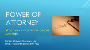 How To Give Someone Power Of Attorney by Powers Of Attorney Benefits And Dangers Winblad Law Pllc Edmond