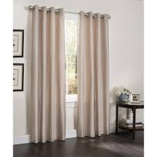 erin faux silk insulated blackout 90 inch curtain panel pair