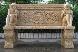 Stone Chair Wellest Yellow Sandstone Chair Exterior Outside Garden Stone Chair