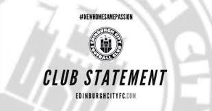 changement de si鑒e social association edinburgh city fc partnership edinburgh city fc